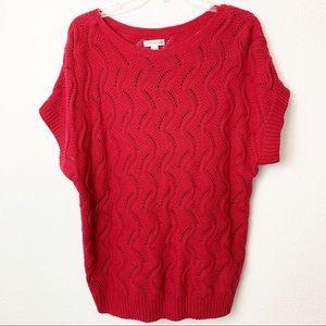 Croft&Barrow Womens open knit short sleeve sweater